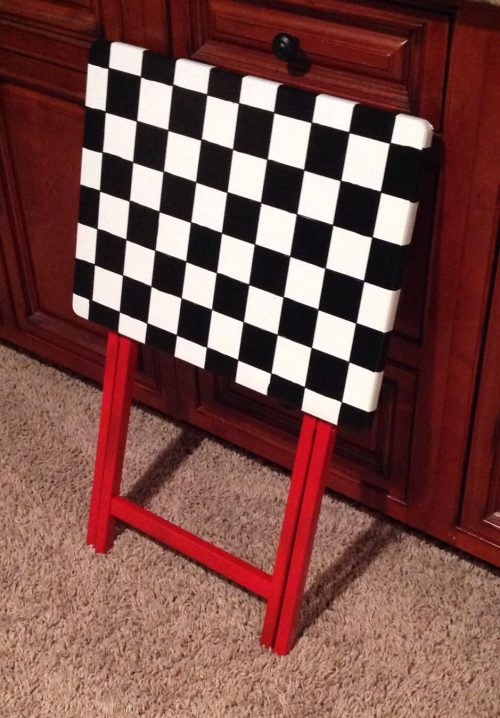 Whimsical Painted Furniture Tray Table