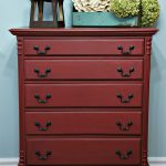 Whimsical Perspective Makeover Red Dresser