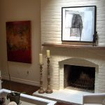 White Brick Fireplace Transitional Living Room Meredith Heron