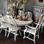White Chalk Paint Dining Table Room Chairs Wooden