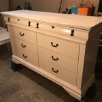 White Dresser Drawer Hand Painted Buffet Changing Table Stand Sale