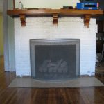 White Painted Brick Fireplace Design
