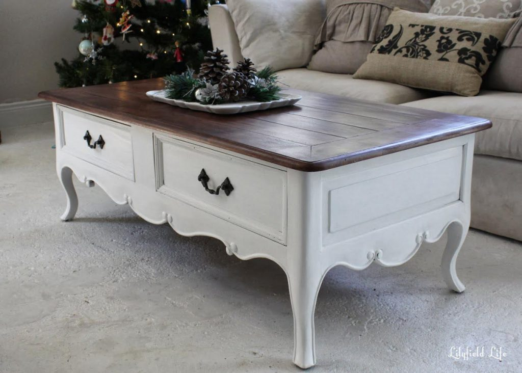 White Painted Coffee Table Design