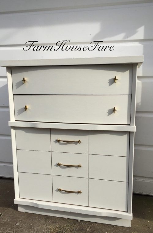 White Painted Dresser Chalk Paint Mid Century Modern