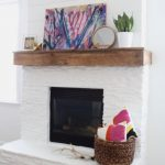 White Painted Stone Shiplap Fireplace Makeover Angie