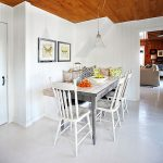 White Plank Floor Cottage Dining Room Laura Hay Decor