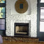 White Stone Fireplace Does Provide Feasible Solution Design
