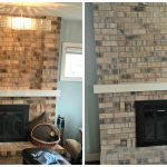 Whitewash Brick Fireplace Before After Design