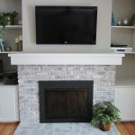 Whitewash Fireplace Home Staging Bloomington