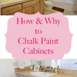 Why Chalk Paint Your Bathroom Kitchen Cabinets Happy