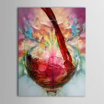 Wineglass Large Canvas Frame Modern Hand Painted Art Oil Painting Wall Decor