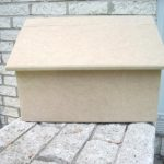 Wooden Mailbox Unfinished Wood Ready