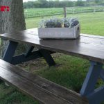 Wooden Picnic Table Makeover