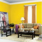 Yellow Gold Paint Color Living
